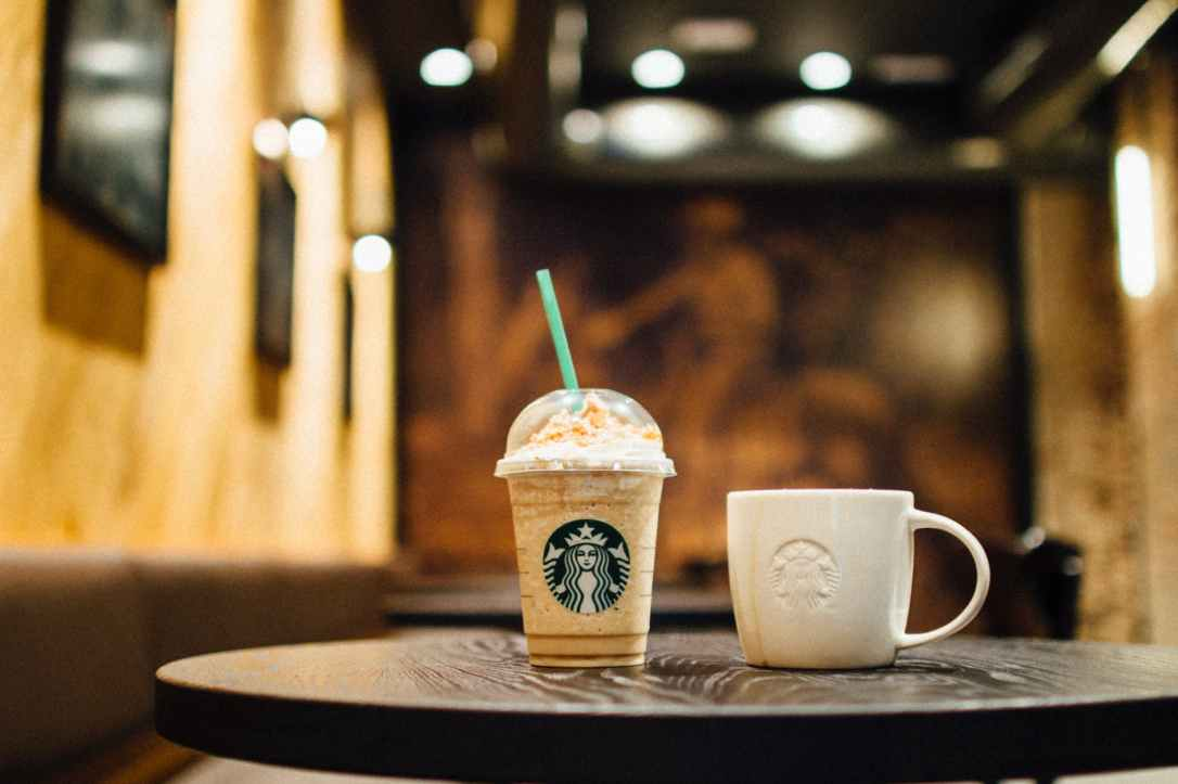 close up photo of starbucks cups